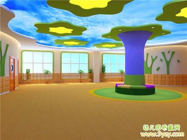 幼儿园大厅天花板吊顶装修设计效果图
