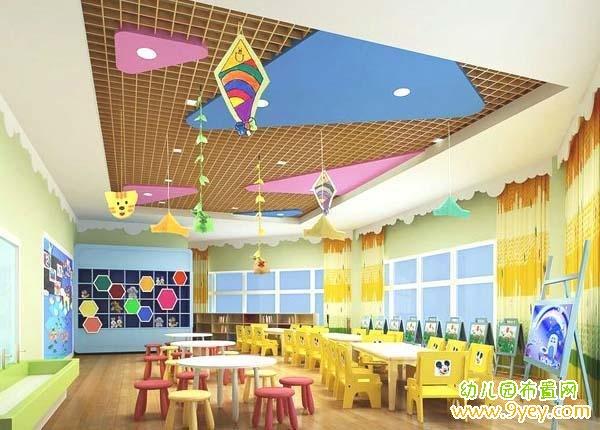 舞蹈室幼儿园小班教室布置图片 设计本装修效果  幼儿园入门接待大厅