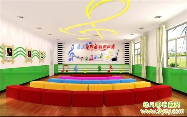 幼儿园音乐教室主题墙布置:音乐是思维着的声音