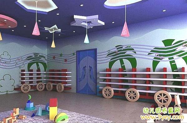 幼儿园活动室吊顶布置图片