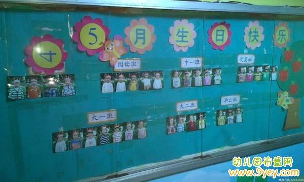 幼儿园生日栏布置图片