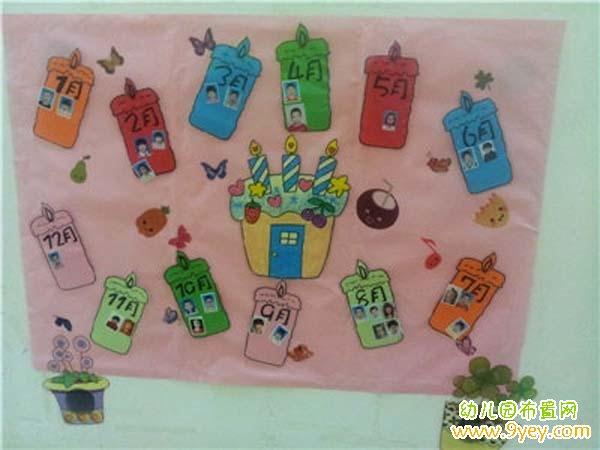 幼儿园简单的生日墙设计图片_幼儿园布置网