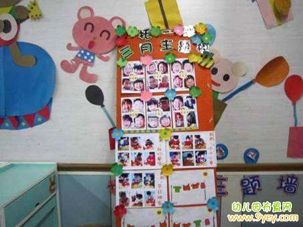 托班三月主题墙布置图片_幼儿园布置网