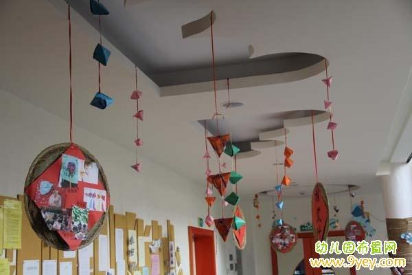 幼儿园端午节楼道吊饰装饰图片_幼儿园布置网图片