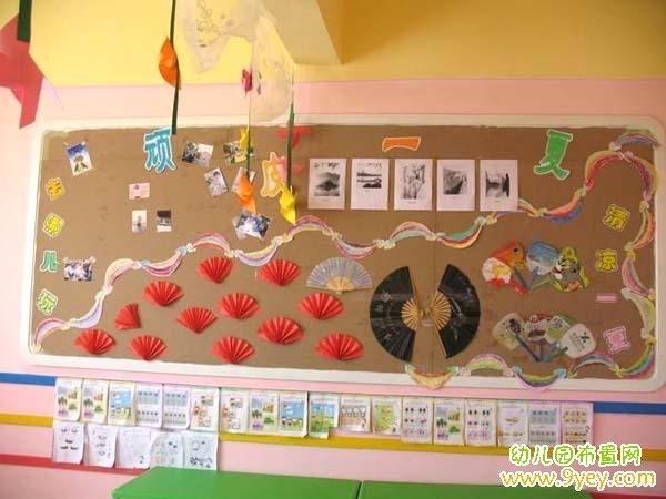 幼儿园夏天教室环境布置图片