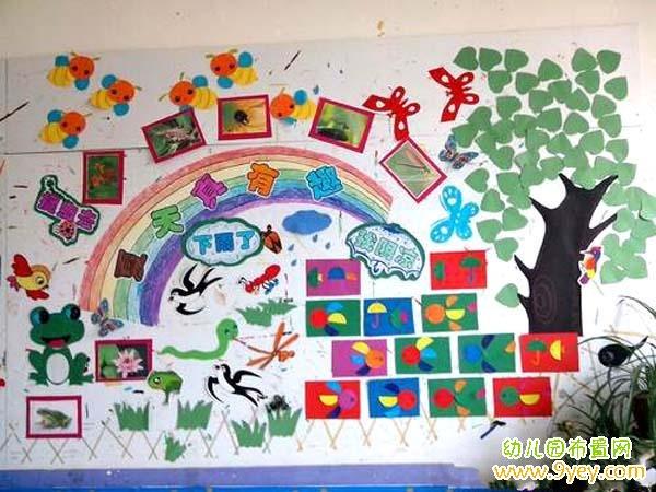 幼儿园教室夏季主题墙饰装饰图片:夏天真有趣