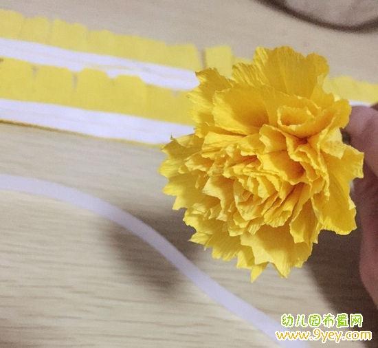 儿童母亲节礼物康乃馨花朵手工制作教程步骤图_幼儿园