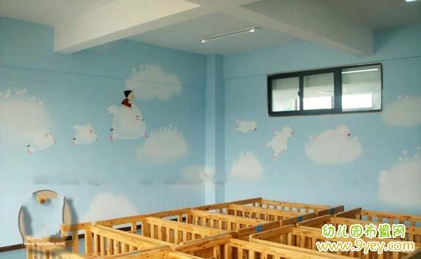 幼儿园休息室墙面彩绘设计图案