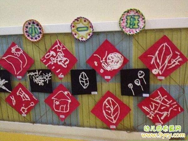 幼儿园小班涂鸦作品展示墙设计图片