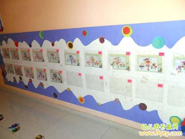 幼儿园作品墙背景边框装饰布置图片