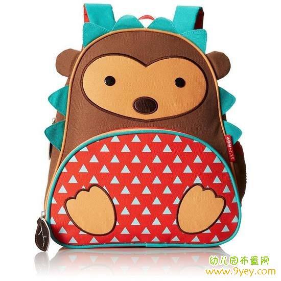 幼儿园可爱动物造型书包设计图片:小刺猬
