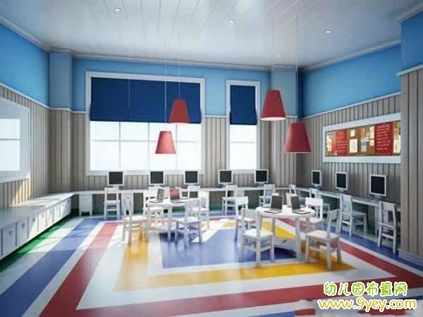 幼儿园计算机室室内设计图片